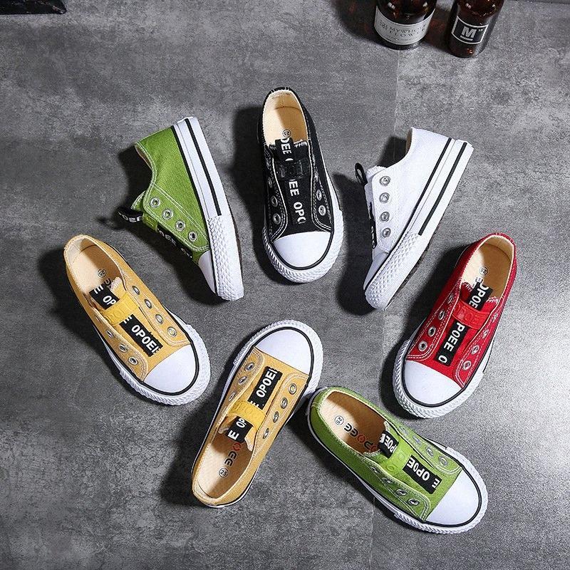 New Classic bambini scarpe di tela ragazze bambine Scarpe da tennis del tendine casual bambino scarpe da corsa solido di colore Bambino Sport gTU7 #