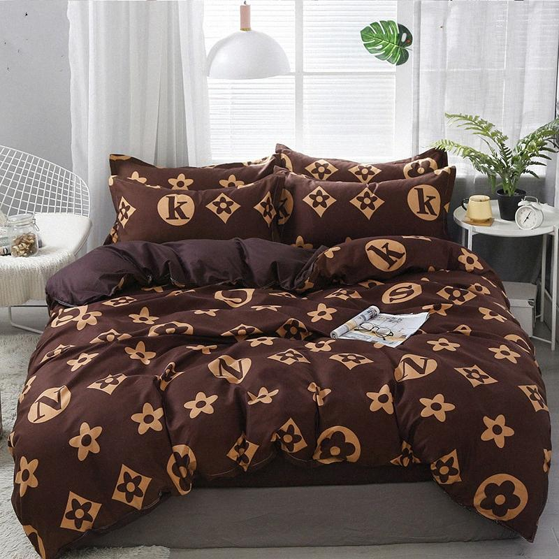 Bedding Set 21Style Bed Sheet Pillowcase & Duvet Cover Sets Stripe Aloe Cotton Bed Set Home Textile Products 45yd#