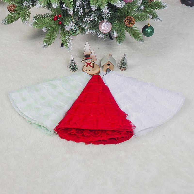 Feliz árbol de navidad Faldas Alfombra Año Nuevo Decoración Decoraciones de Navidad para árbol de Inicio Falda