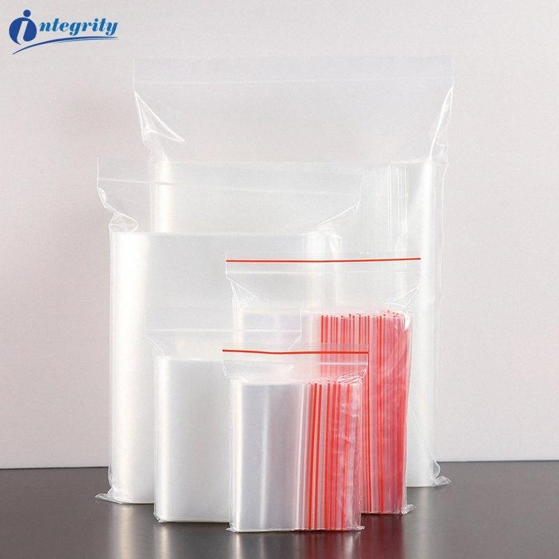 INTEGRITY Small Size Reusable Clear Plastic Packaging Bag Transparent Self Sealing Gifts/Cookie/Crafts Pouch Bag Wrapping Paper For Bo fMuG#