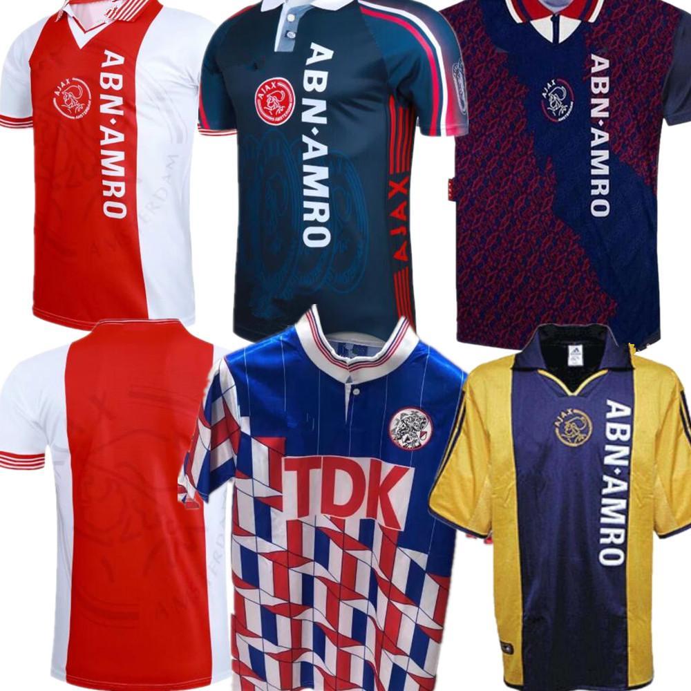 95/98 Ajax Red Retro Edition Pullover di calcio 94/95 Ajax Litmanen Kluivert DE BOER SEEDORF DAVIDS 1990 97/98 camicia di calcio uniforme