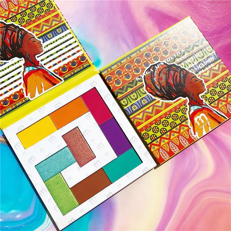 9 Renkler Büyüleyici Göz Farı Paleti Palet Mat Işıltılı Glitter pigmentli Göz Farı Pallete Toz Nubian Kozmetik Makyaj