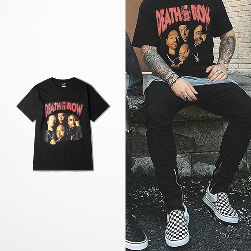 2019 Mort poussée punk rock T-shirt Planche à roulettes côte ouest hommes High Road Drake 2pac T-shirt drôle Hip hop Street Wear Top Tee MX200611