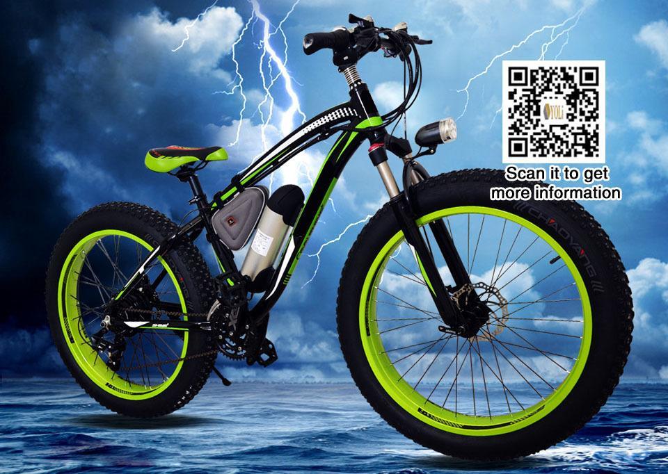 Bicicleta eléctrica 1000W 48V 17A Batería de litio E Bici Neumático de grasa 26 '' MTB en EE. UU.