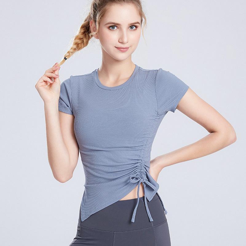 Breathable Sport-Yoga Shirts Laufen Damen T-Shirts Gym Elastic Sportjerseys T Sport Wear Short Sleeve Quick Dry