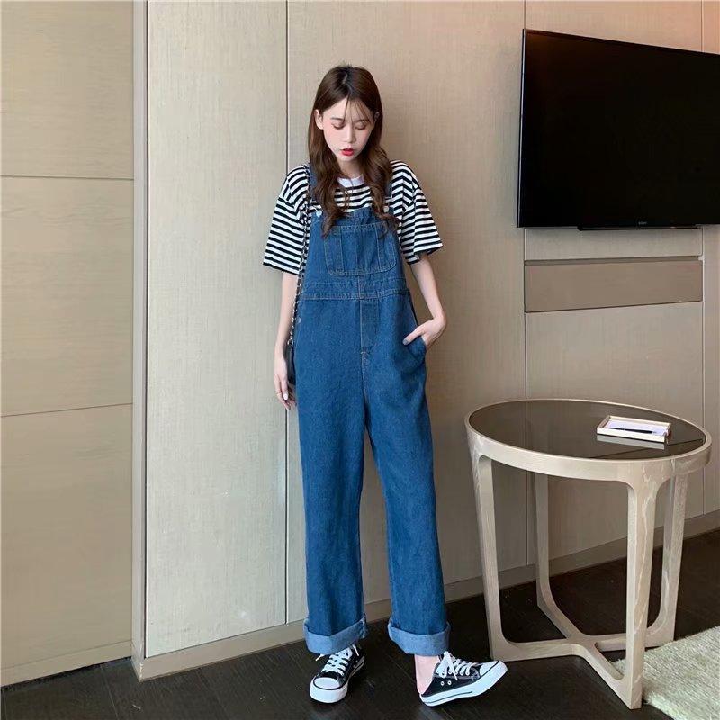 versione estiva coreana di jeans l'età all'età di riduzione cinghia femminile studente di grandi dimensioni sciolti direttamente sciolto sottili pantaloni del piedino