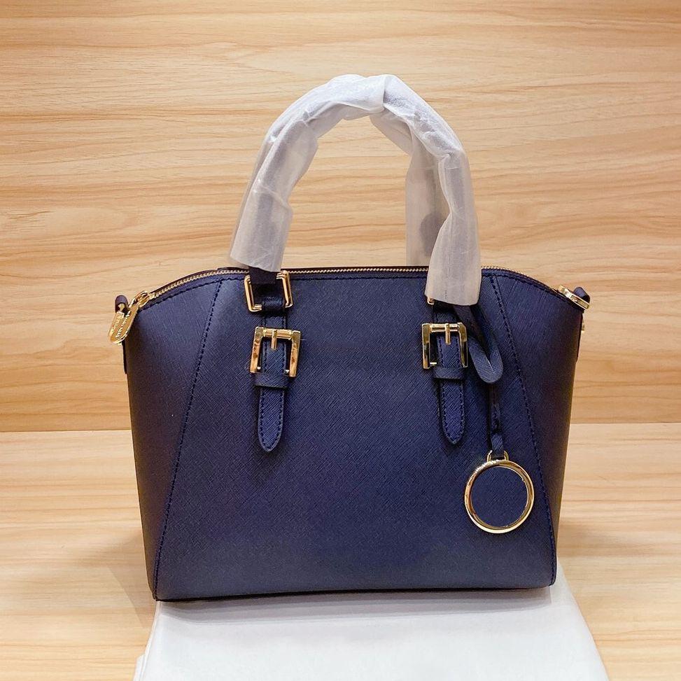 shoppingbag أعلى جودة عالية العلامة التجارية الجديدة حقيقية سوداء مخططة السيدات حقيبة يد حقيبة الكتف رسول حقيبة حقيبة رسول