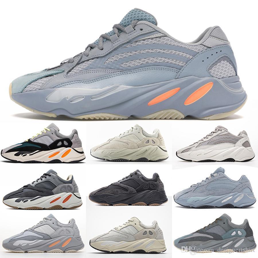 Top 700 Hospital de inercia V2 Imán azul Tefra Utilidad Negro Vanta hombres de los zapatos corrientes diseñador de las mujeres zapatillas de corredor de la onda con la caja de WAVERUNNER