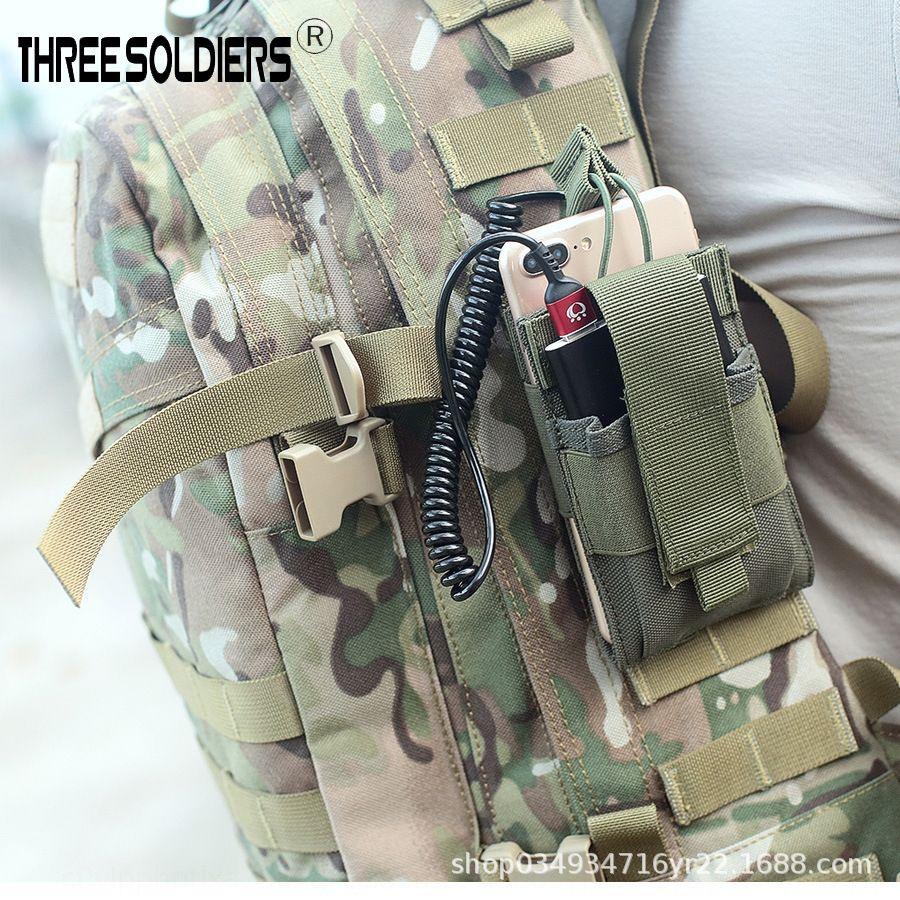 ventiladores bvGzn accesorios de carga de tesoros tácticas de telefonía móvil bolsa de accesorios MOLLE teléfono móvil tesoro de carga de doble propósito bolsa de correr