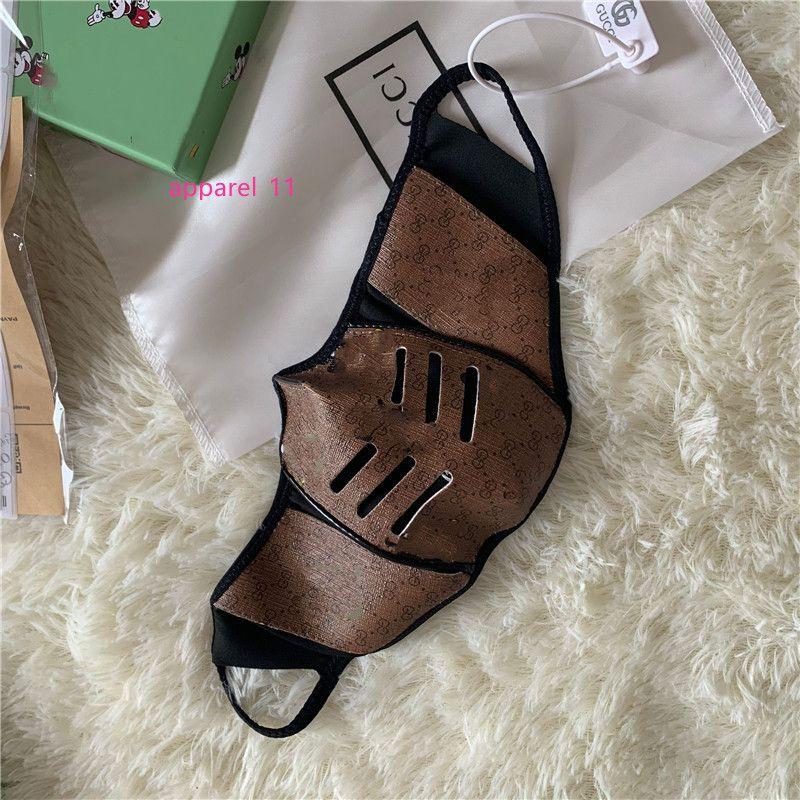 Designer anti-polvere di cotone Bocca maschera di protezione maschera di protezione nera unisex Facemask Uomo donna che indossa nero di modo Facemask avere Box