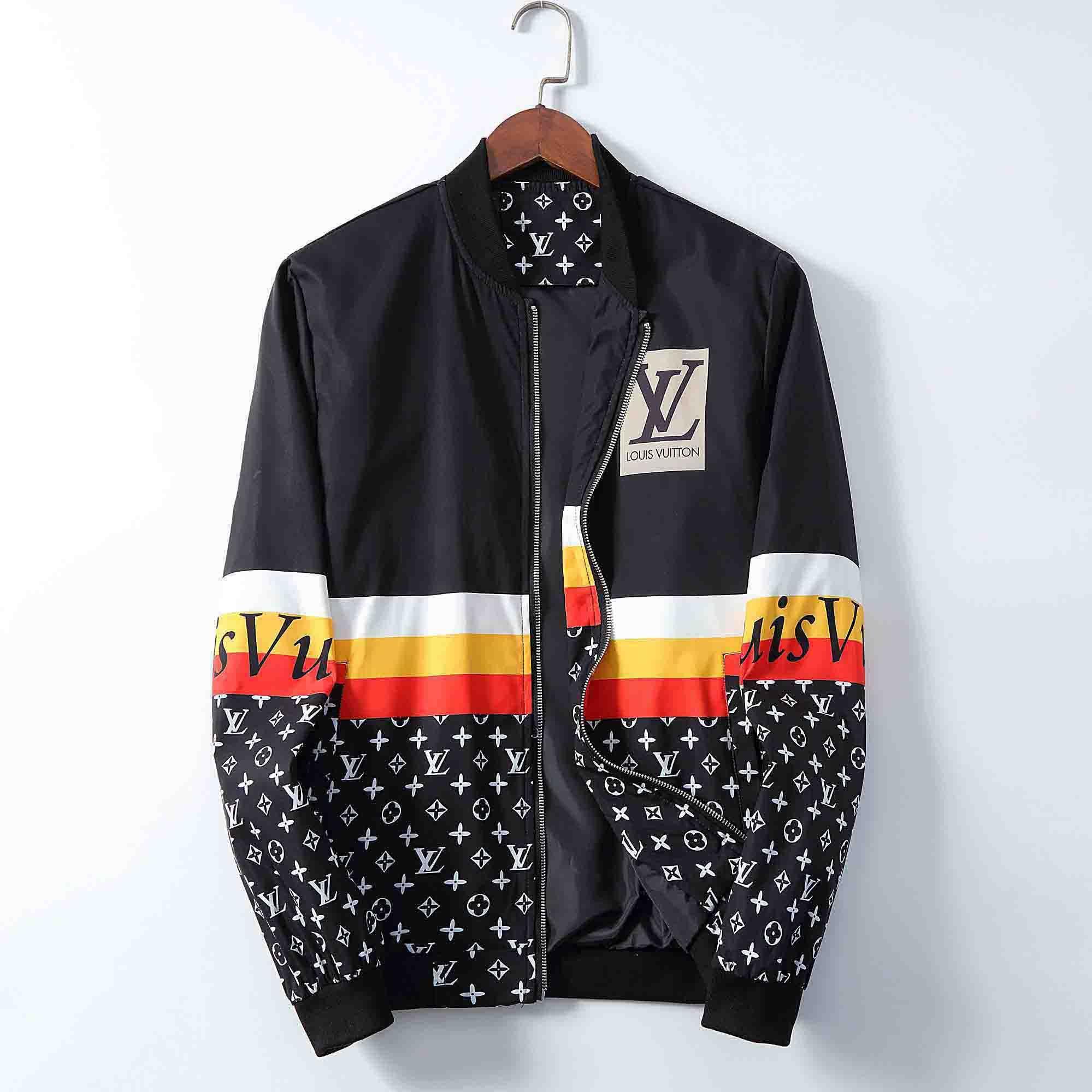 2020 Paris neue Art Herrenjacke Mode Persönlichkeit gedruckte Stickerei Mantel Medusa Jacke lose Stehkragen Strickjacke Reißverschluss Männer Mantel