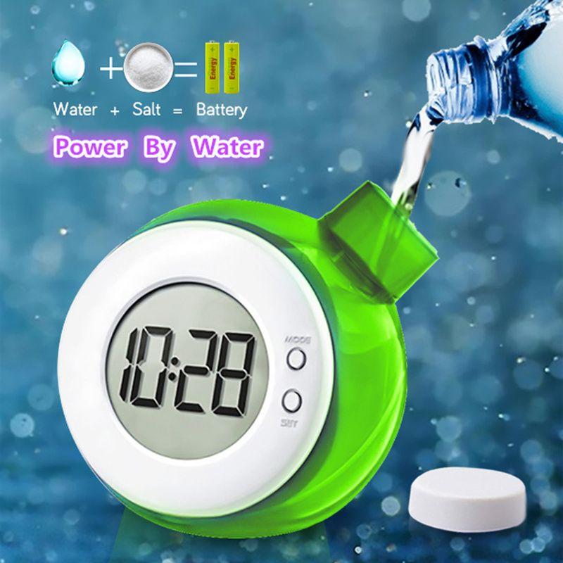 Water Powered Table Clock Child Desk Clock Smart Water Element Mute Calendar Digital Clock Home Decor Kid school Start Gifts