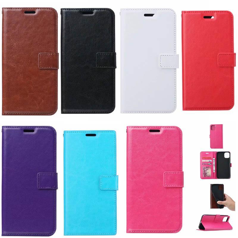 미친 말 가죽 지갑 케이스 아이폰 13 2021 미니 12 Pro Max X XR XS 8 7 6 SE 5 5S 레트로 빈티지 플립 커버 사진 프레임 ID 카드 슬롯 파우치 비즈니스 남성 여성 지갑