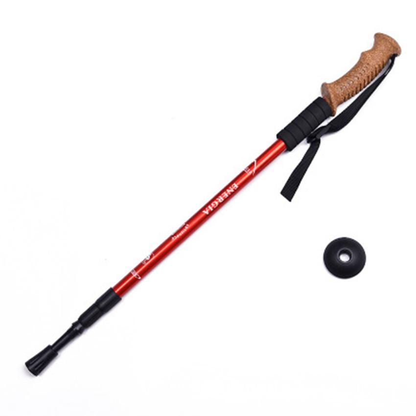 Outdoors Trumpet Cork Trekking Poles Ultra Light Telescopic Alpenstock Multi Function Straight Handle Hiking Walking Stick ZZA2499 10Pcs