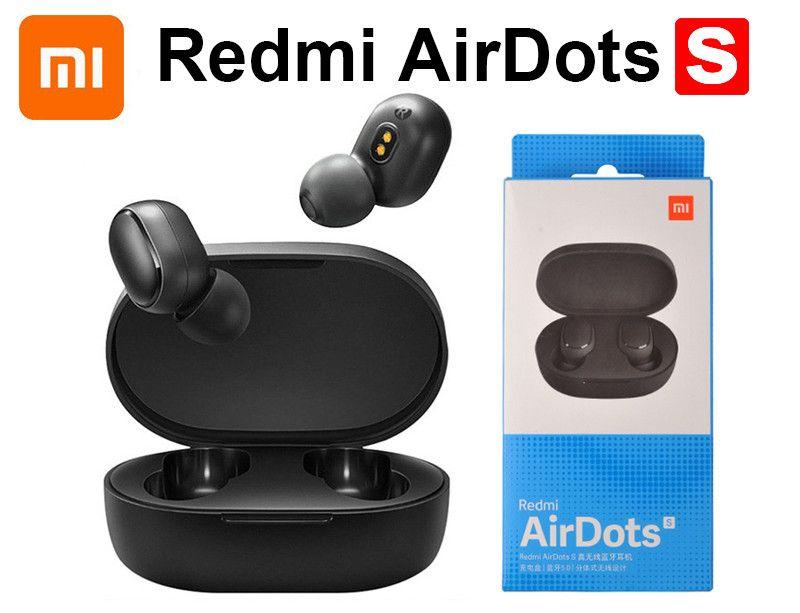 샤오 미 Redmi Airdots S TWS 무선 블루투스 5.0 스테레오 이어폰 마이크 핸즈프리와베이스 노이즈 감소 탭 제어