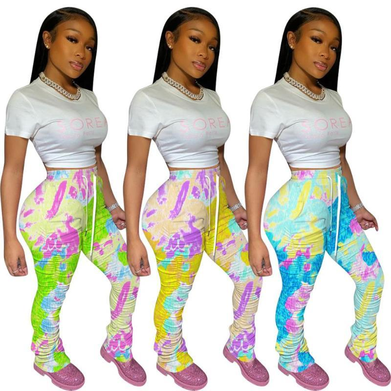 Уложив лосины бегунов сложенного Sweatpants женщин Ruched брюки леггинсы бег Femme брюки женщина пот S217