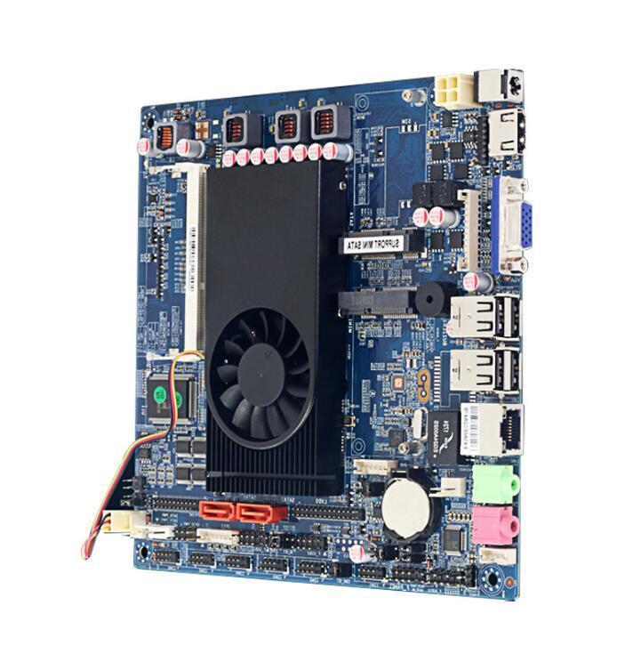 Petit hôte quad core CPU mis mini pc intégré contrôle industriel petite carte mère