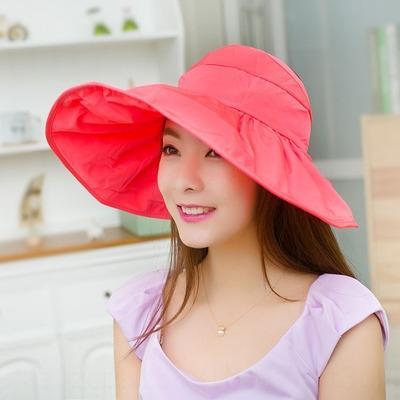 6nU7H de soleil pliables été des femmes soleil mode d'été des femmes Pliable style coréen marée tissu à la mode Voyage chapeau vide-dessus extérieur chapeau U
