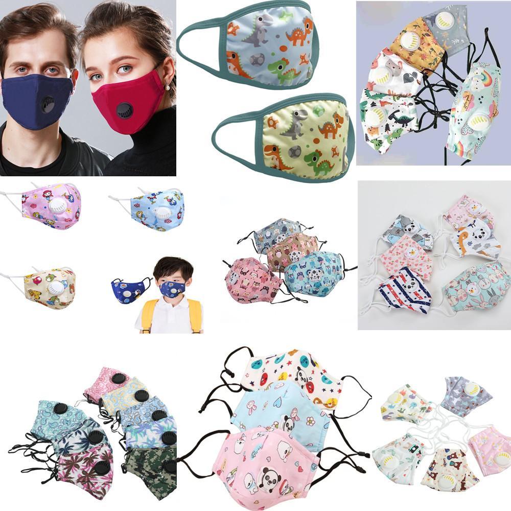yüz maskesi maskesi filtresi Ağız valf Siyah Pamuk karşıtı toz pembe yüz maskesi koruma Moda yıkanabilir Yeniden kullanılabilir çocuklar maskeler Erkek Kadın yüz maskesi