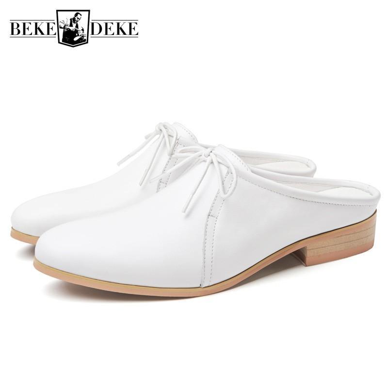 الصيف الايطالية جلد طبيعي أحذية مكتب الرجال النعال الفاخرة المدببة اللباس الأسود الصنادل شاطئ الأعلى جودة Sandalias 2019