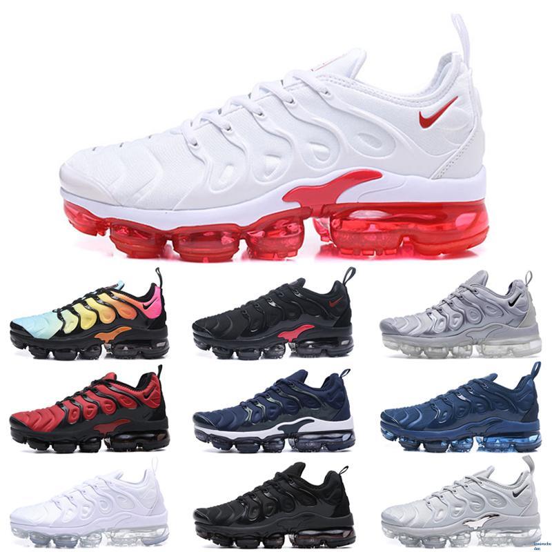 Nike Air Vapormax plus TN Artı Siyah Lazer Crimson Kıyı Mavi Erkekler Kadınlar Koşu Ayakkabı Gerilim Mor Siyah Kahverengi ağartılmış Aqua Sneakers Pembe