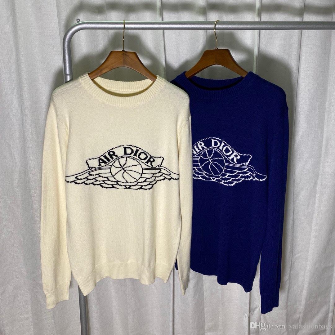 أوروبا النساء والرجال مصمم البلوزات الرجعية الرجال قميص من النوع الثقيل الفاخرة إلكتروني الذراع الكلاسيكية التطريز جولة الرقبة مريحة ذات جودة عالية الطائر
