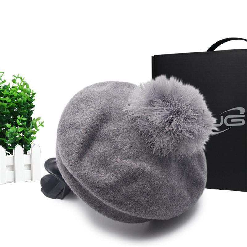 DINISITON lana Beret sveglia delle donne della ragazza Beret del cappello 5 colori francese Beanie Cappelli di lana Super alta qualità calda YBL06