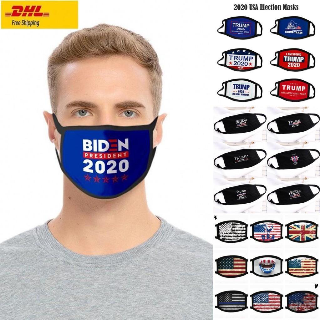 2020 Election Fashion Designer Trump Cotton Mask Keep America Great Encore une fois Drapeau BLM Je ne peux pas respirer le visage Masques PM2,5 Lavable Cyclisme Couverture