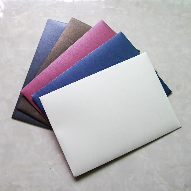 Papel de color 20pcs del sobre A4 sobre del regalo del archivo de negocios Embalaje Bolsita invitación de la boda Sobres clásicos