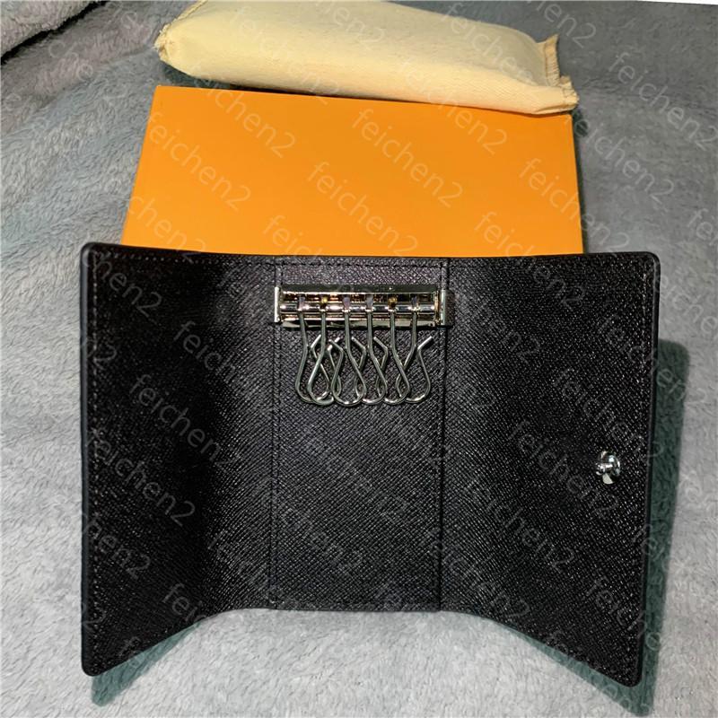 suporte chave bolsa de couro carteiras chave chaveiro mulheres homens porta-chaves clássicos cobrir moeda anel cartão com LH00 caixa de alta qualidade