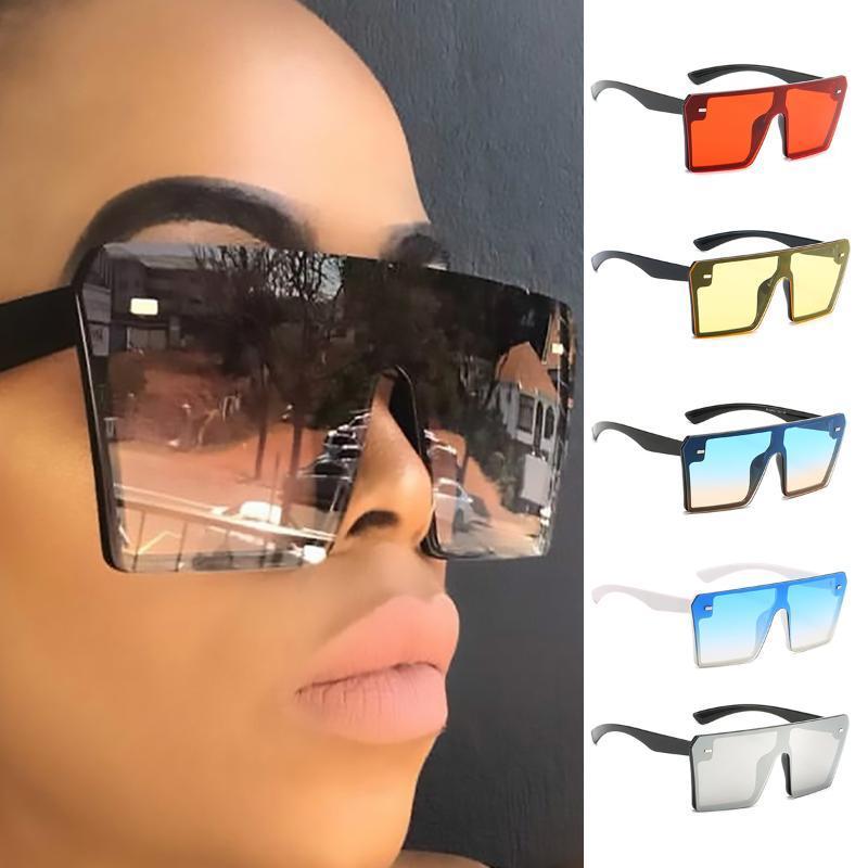 Erkekler Gradient Renk Pirinç Nail UV400 Güneş gözlüğü için Çerçeve Bağlı cam olmadan 2020 Yeni Kadın Güneş Gözlükleri Moda Büyük Lens