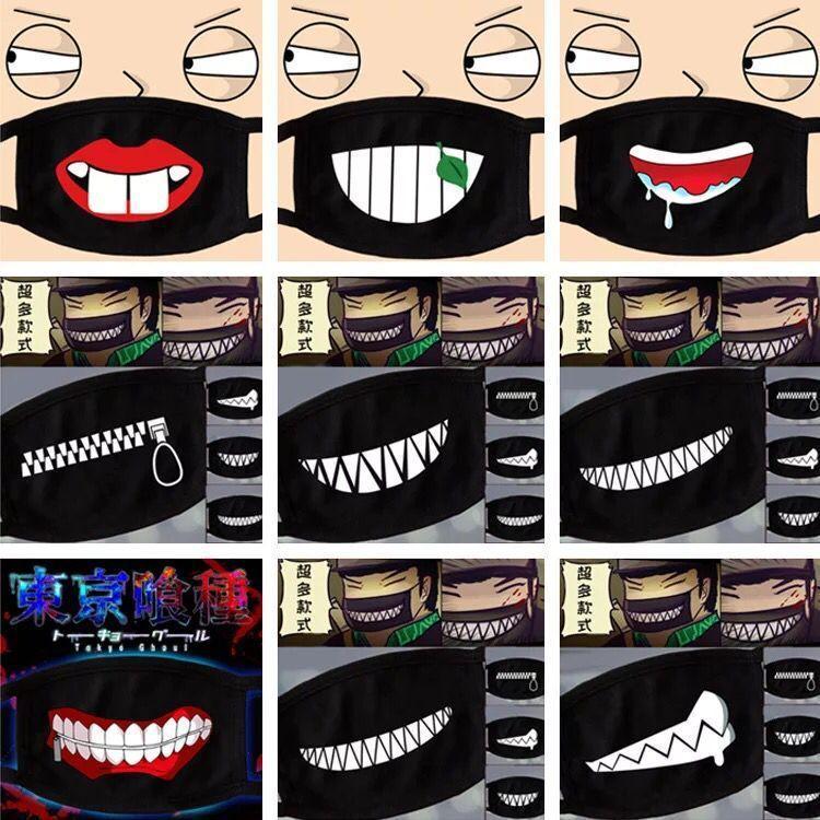 Karikatür Maske Parti Yetişkin Çocuk Eğlence Fantezi Elbise Gürdeniz Yüz Sevimli Ayı Ağız Kül Yeniden kullanılabilir Toz Windproof Pamuk Maskesi 500pcs Isınma Maskesi