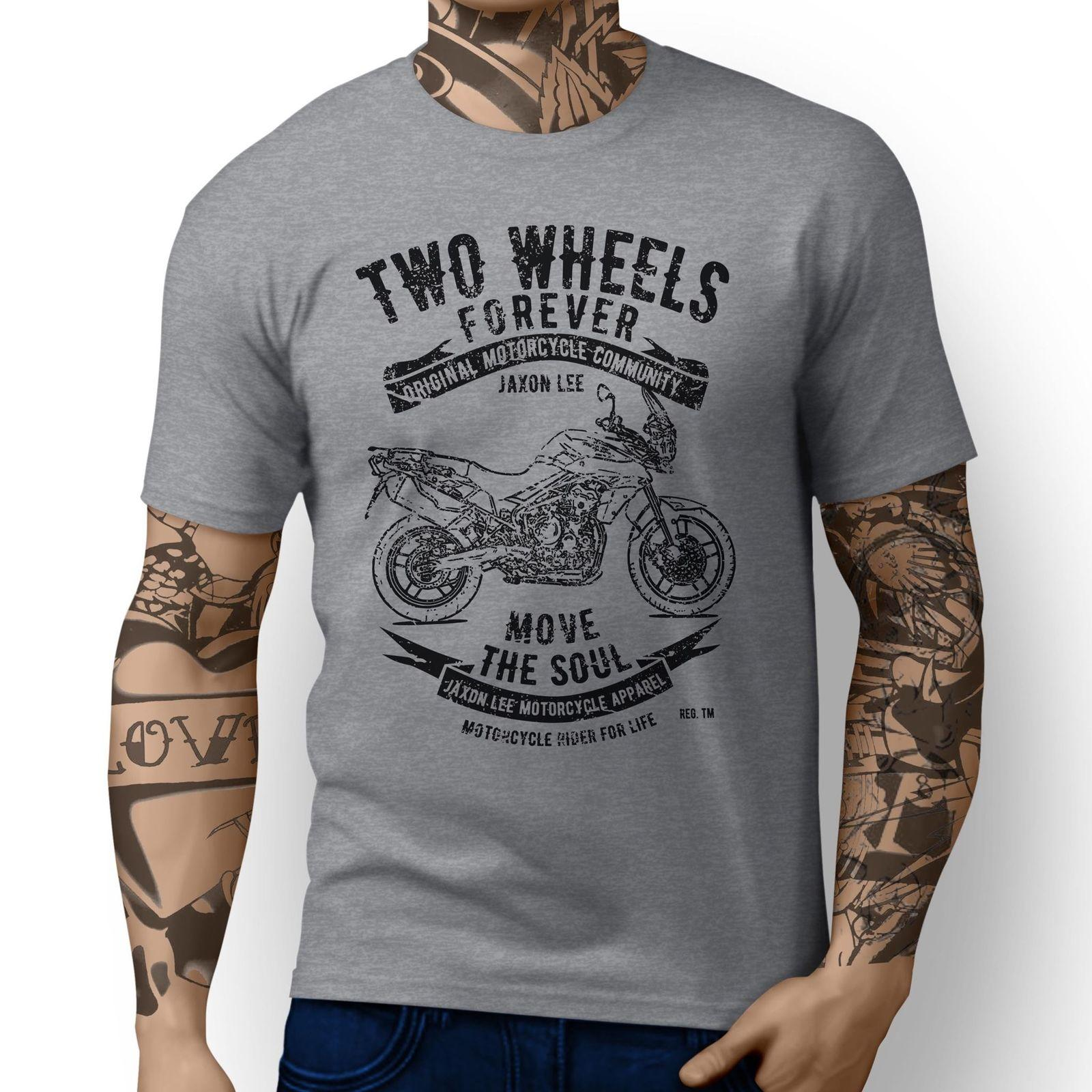 Britischer Motorrad-Tiger 800 Inspired Motorrad-Kunst-T-Shirts