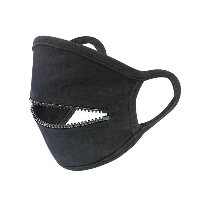 Zipper дизайн маска моющийся многоразовый Велоспорт Защитная маска для взрослых пыле дышащий Спортивные маски Дизайнер Маски CCA12394 60pcs
