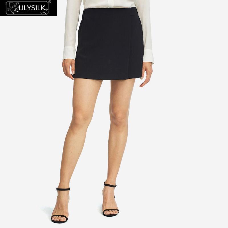Женские шорты Lilysilk Silk юбка повседневные асимметричные женщины