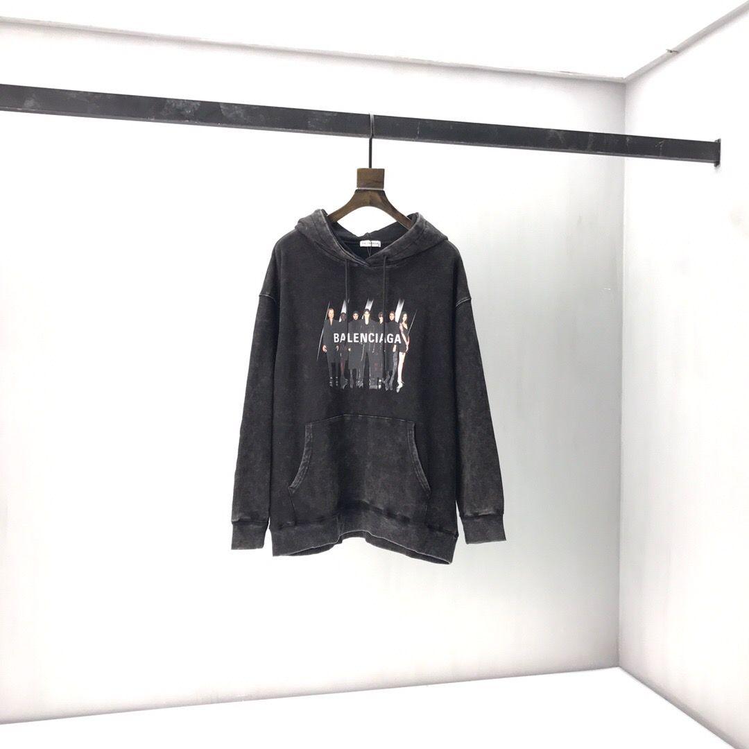 2020ss primavera y el nuevo algodón de alto grado del verano impresión de manga corta ronda panel de cuello de la camiseta Tamaño: M-L-XL-XXL-XXXL Color: negro white75