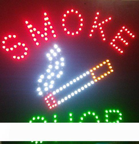 Platz Led Smoke Shop öffnen Neon Schilder für Business Store LED-Zeichen 48 x 48 cm
