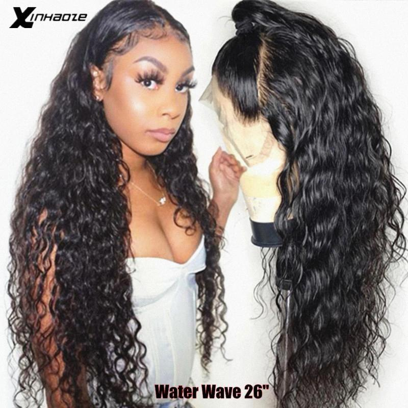 Water Wave 360 Lace Frontal Wig Pre Plucked With Baby Hair 13x6 Lace Front Human Hair Wigs Remy Brazilian Wig For Black Women afc1#