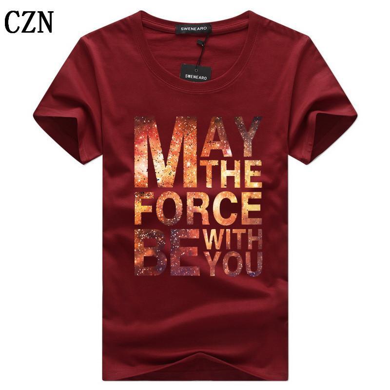 Freier Verschiffen-Sommer-Mode-Marken-Kleidung Herren Kurzarm-T-Shirts O-Ansatz Normallack-T-Shirt beiläufig nehmen passende T-Shirt Männer C-5