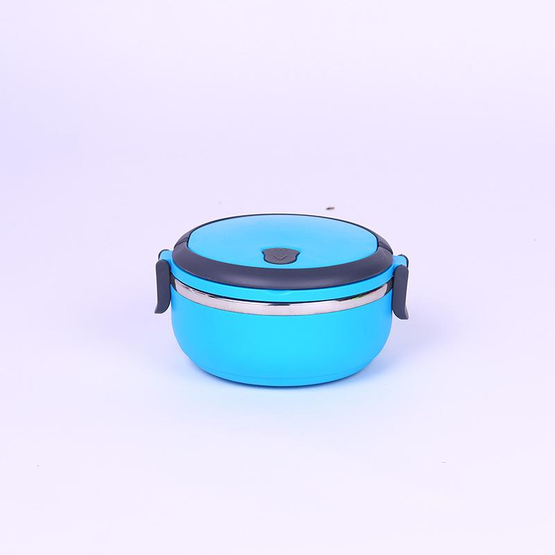 Heat Preservation Lunch Box Student Bento Box DinnerBox Circular Color Blue Green Layer Monolayer Double Deck Three Layers 11 5sx k1