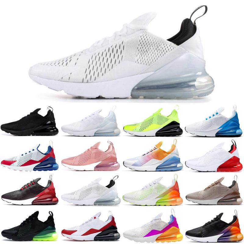 nike air max airmax 270 Üçlü siyah beyaz pembe ABD paskalya kaktüs voltluk açık mens koşu ayakkabıları sıcak erkekler kadınlar eğitmenler spor ayakkabısı rayları womens