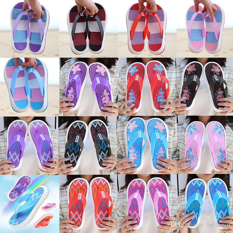Marke Damenschuhe Sandalen und Pantoffeln Sommer starke untere Flipflops Sandalen Damen Anti-Rutsch flachen Boden im Innen- und Außen Strand s