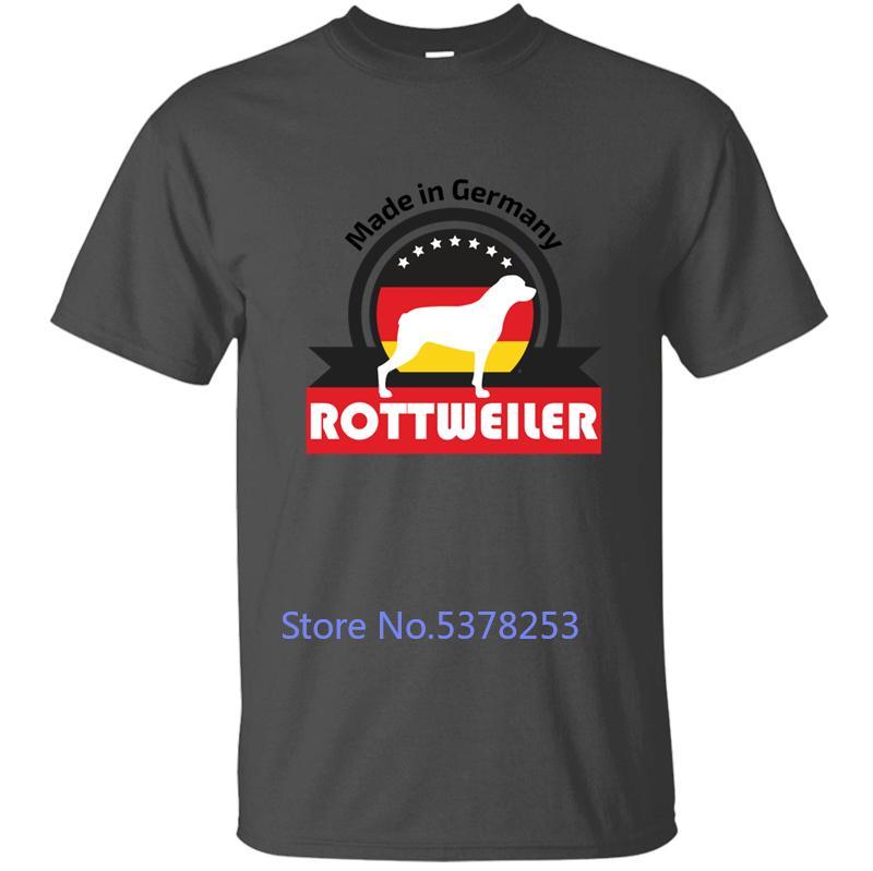 Mens T Shirt Rottweiler Mens T-shirt da uomo maglietta divertente Streetwear raffreddano collo rotondo design Tops Personalizza Maniche corte