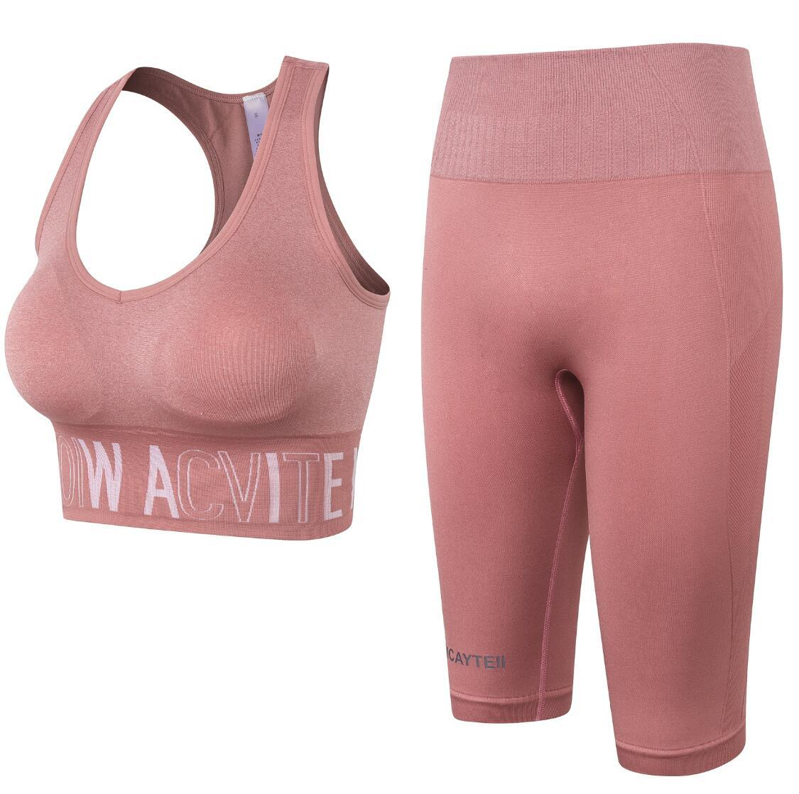 Las mujeres sujetador deportivo aptitud del entrenamiento de los pantalones de entrenamiento lu ropa de gimnasia yoga polainas pantalón corto deportivo Ropa deportiva Trajes de Yoga Set