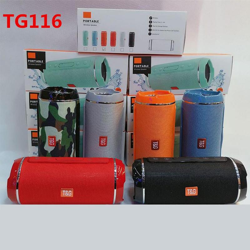 T&G TG116 Double Horn Cloth Net Bluetooth Wireless Speaker Mini Portable Speaker Support TF Card Hand-free Mic Stereo For Mobile Phone 2019