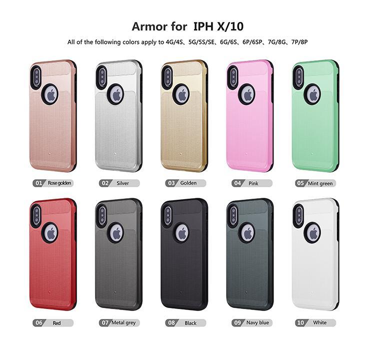 360 caja de la cubierta completa para el iPhone X de la cubierta protectora para el iPhone 11 XS Max XR X 8 Cubierta con la gota resistente