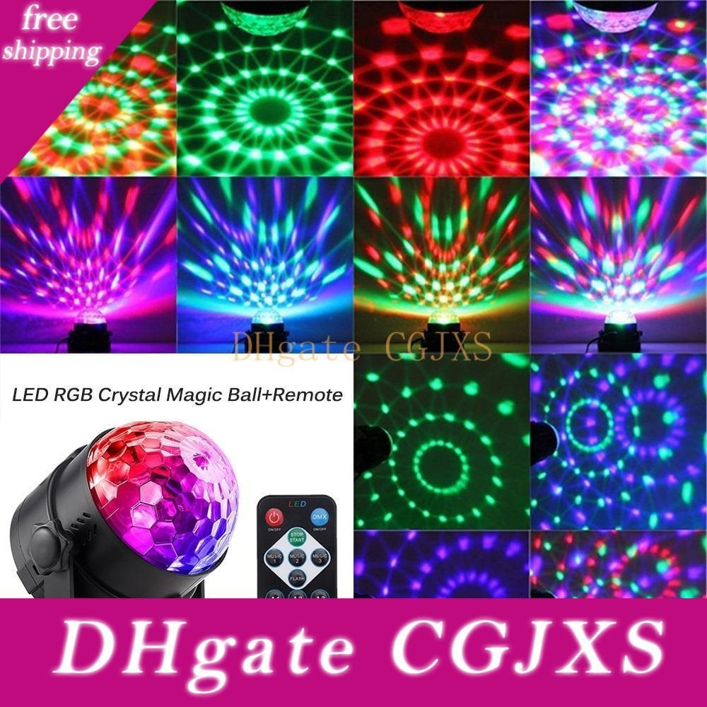 Hot Selling Stage Lighting Effect Crystal Magic Ball Bulb Led Stage Light Disco Club Dj Party Laser Light Sound Control