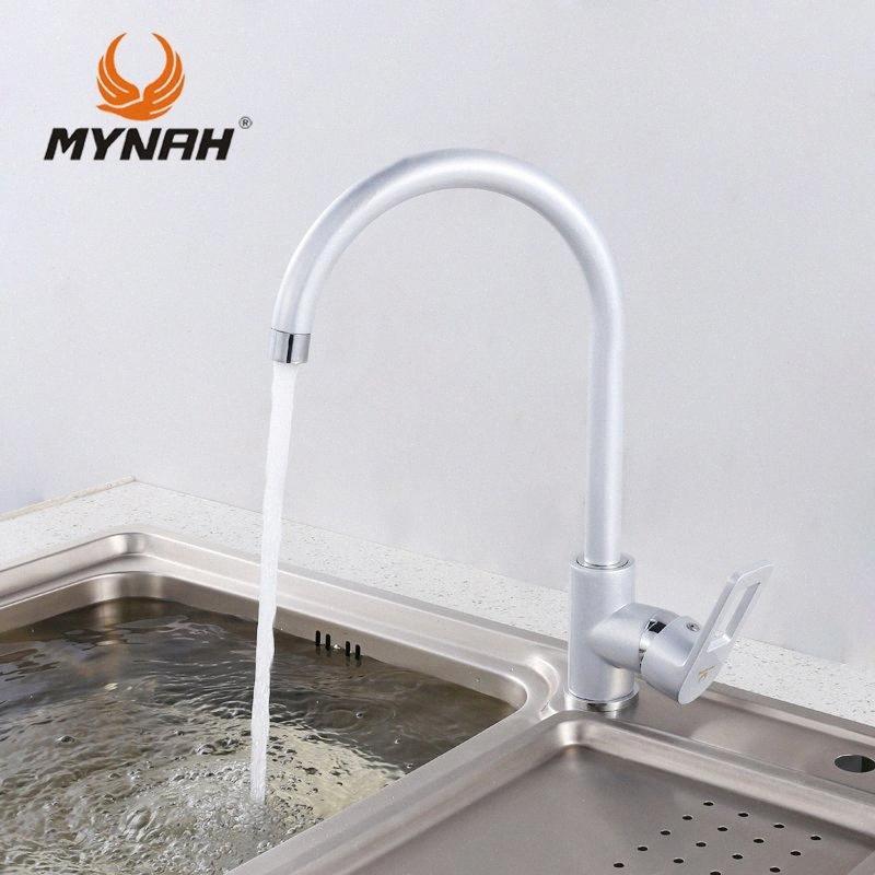 MYNAH Rusia el envío libre de nueva cubierta llegada Montada grifo de la cocina mezclador Pintura del grifo del lavabo grifo mezclador M5906H 6Tnc #