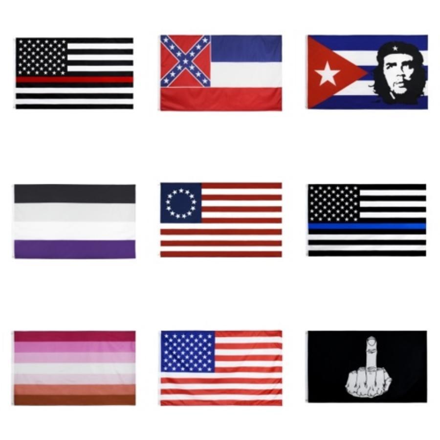 100% polyester Suspendu 90 * 150cm LGBT Homosexuel Fierté rainbow américaine Gay Flag 3 X 5 pour la décoration # 122