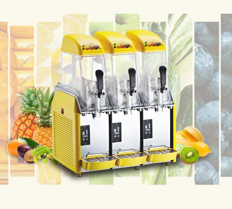 Factory price three cylinder slush machine commercial industrial snow melting machine 110v 220v cold drink juicer machine